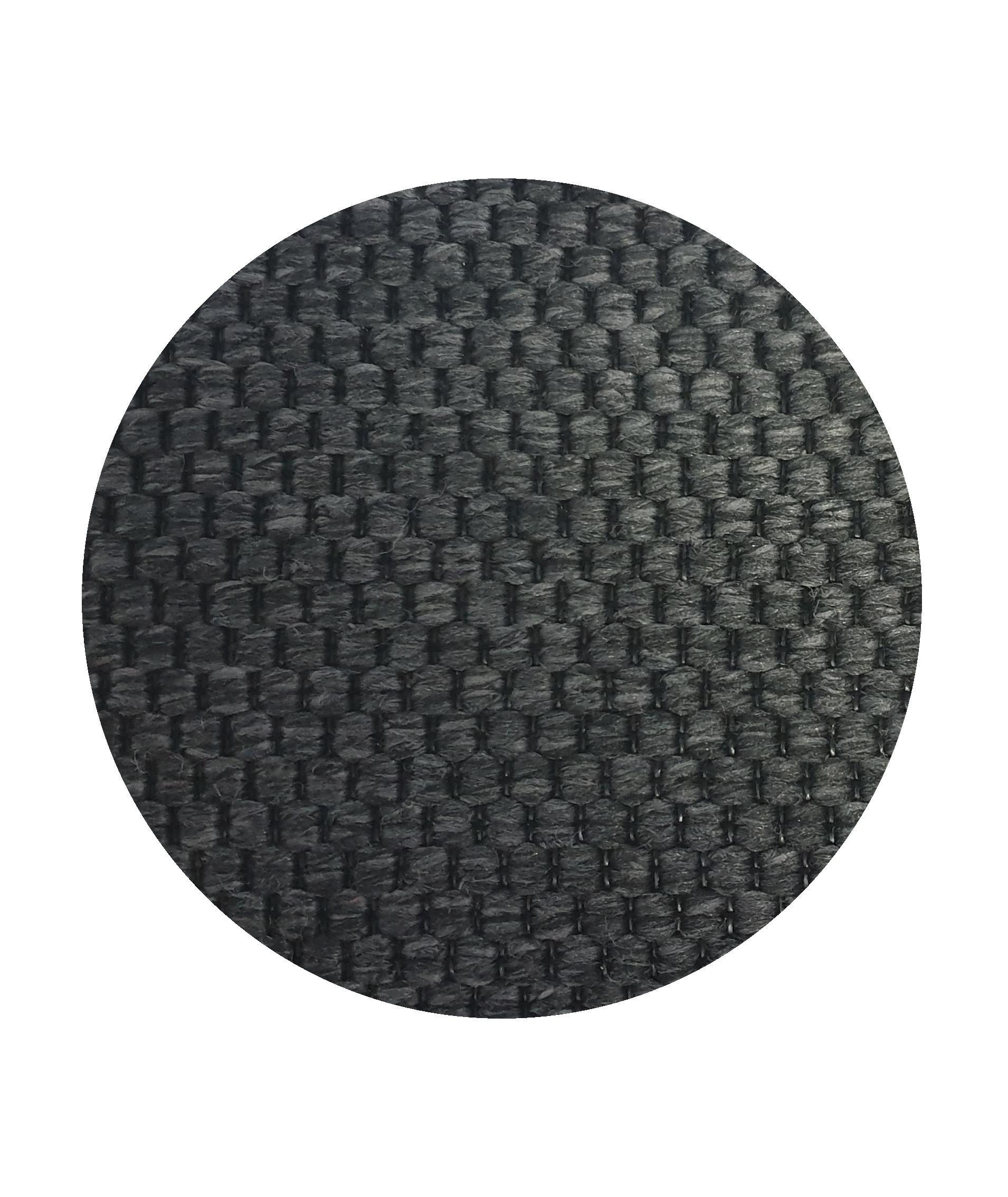 Vopi koberce Kusový koberec Nature antracit kulatý - 120x120 (průměr) kruh cm
