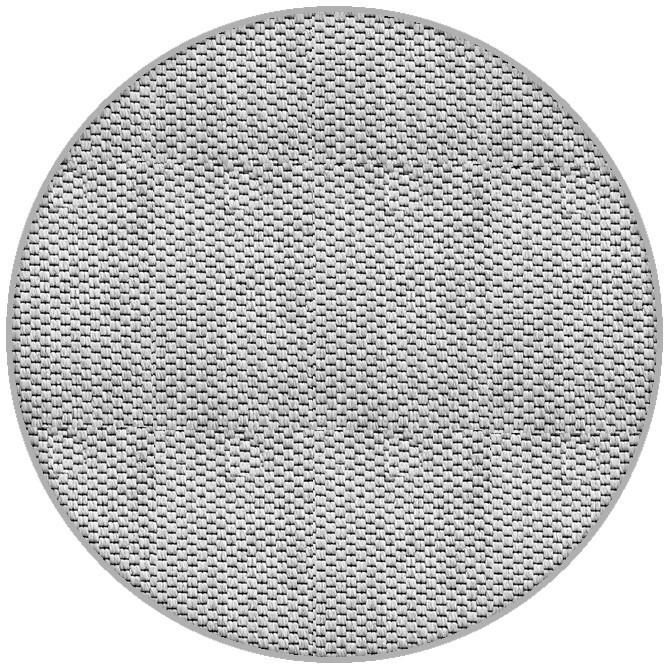 Vopi koberce Kusový koberec Nature platina kulatý - 80x80 (průměr) kruh cm