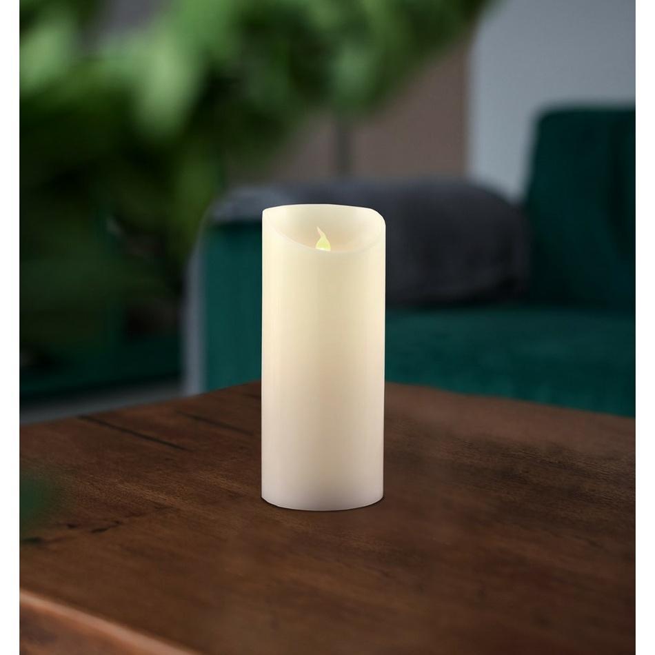 Vosková LED sviečka, 7,5 x 15 cm