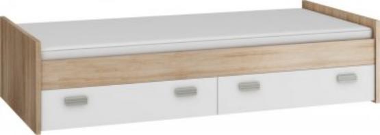 WIP Jednolôžková posteľ KITTY 05 / bez roštu Farba: Dub ARTISAN/biela