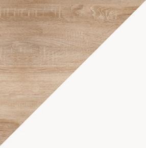 WIP Jednolôžková posteľ KITTY 05 / bez roštu Farba: Dub sonoma svetlá / biela