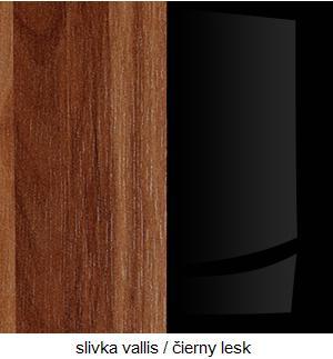 WIP Nadstavec na TV skrinku HUGO 07 Farba: Slivka Vallis / čierny lesk