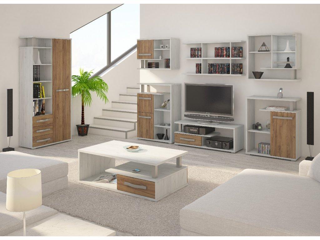 WIP Obývacia stena Angel 7 Farba: Craft biely / craft zlatý
