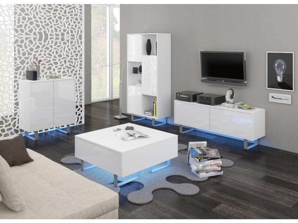 WIP Obývacia stena King 1 Farba: Biela / biely lesk