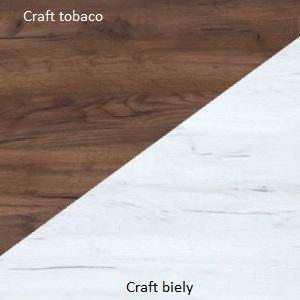 WIP PC stolík Angel 03 Farba: Craft tobaco / craft biely