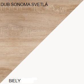 WIP Predsieň 3 Farba: Dub sonoma svetlá / biela