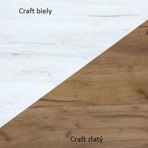 WIP Regál RIO 19 Farba: Craft biely / craft zlatý