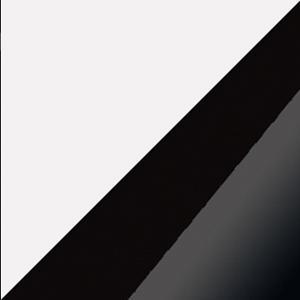 WIP Šatníková skriňa Angel 13 Farba: Biela / čierny lesk