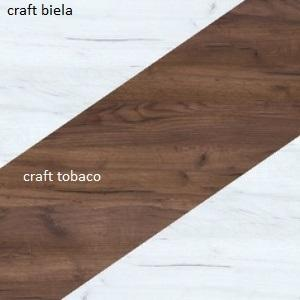 WIP Šatníková skriňa NOTTI 07 Farba: craft biely / craft tobaco / craft biely