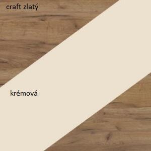 WIP Šatníková skriňa NOTTI 07 Farba: craft zlatý / krémová / craft zlatý