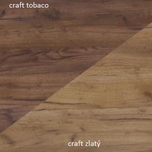 WIP Šatníková skriňa SOLAR SLR 05 Farba: Craft tobaco / craft zlatý