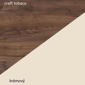 WIP Šatníková skriňa STELLA STE-05 Farba: craft tobaco / krémový