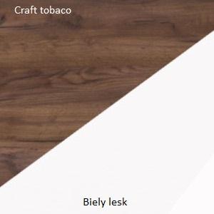 WIP TV stolík King 01 Farba: Craft tobaco / biely lesk