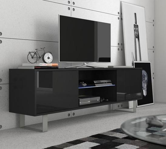 WIP TV stolík King 02 Farba: čierny lesk / čierna