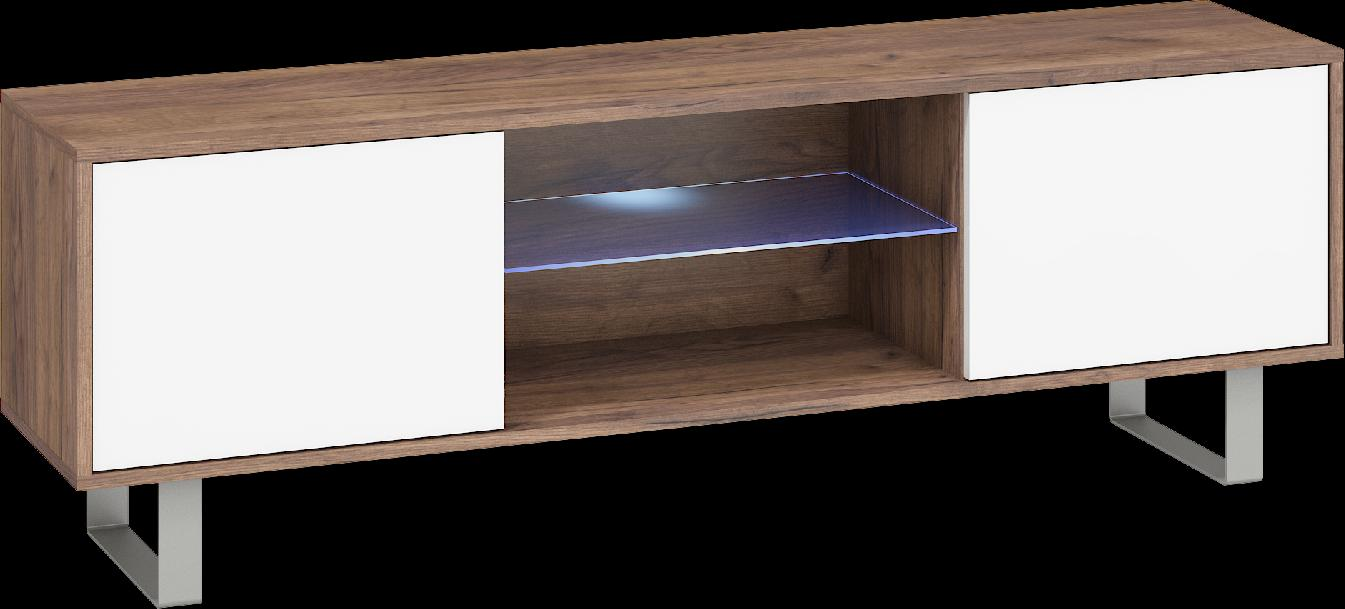 WIP TV stolík King 02 Farba: Craft zlatý / biely lesk