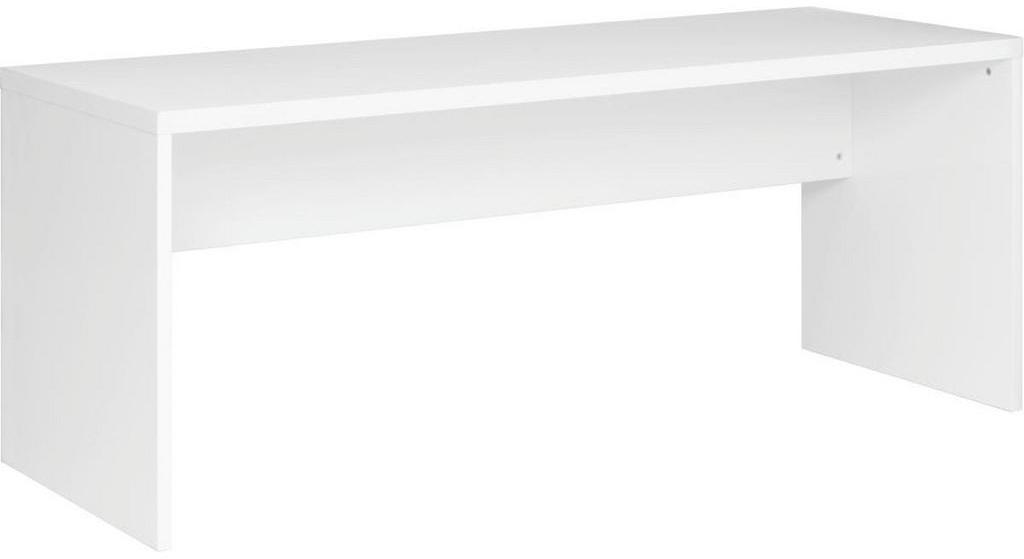 Xora PÍSACÍ STÔL, lesklá biela, 180/69/75 cm - lesklá biela