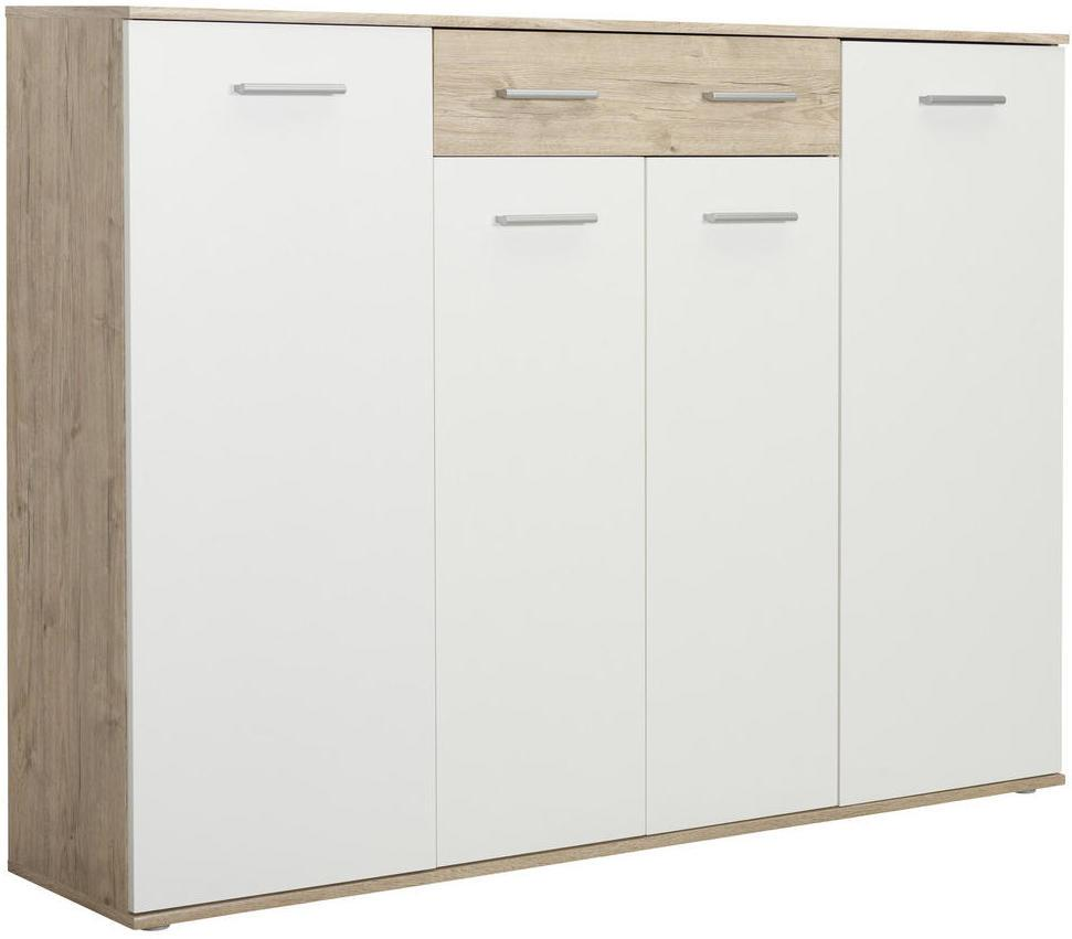 Xora SKRINKA NA TOPÁNKY, biela, farby dubu, 160/120/35 cm - biela, farby dubu