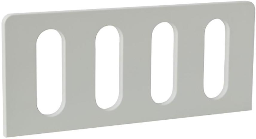 Zábrana MODERN 200X90 biela