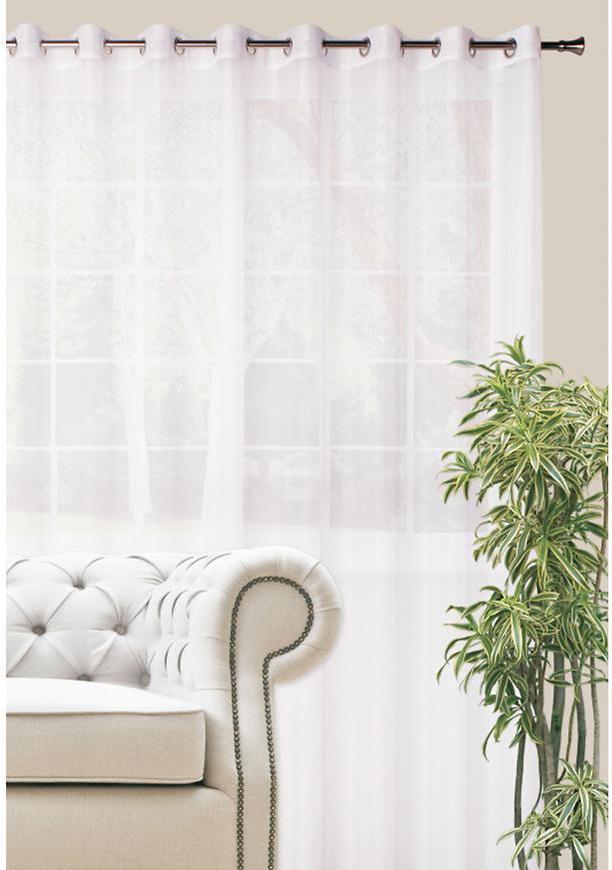 Záclona muselin DIANA biely/300. Tovar na mieru