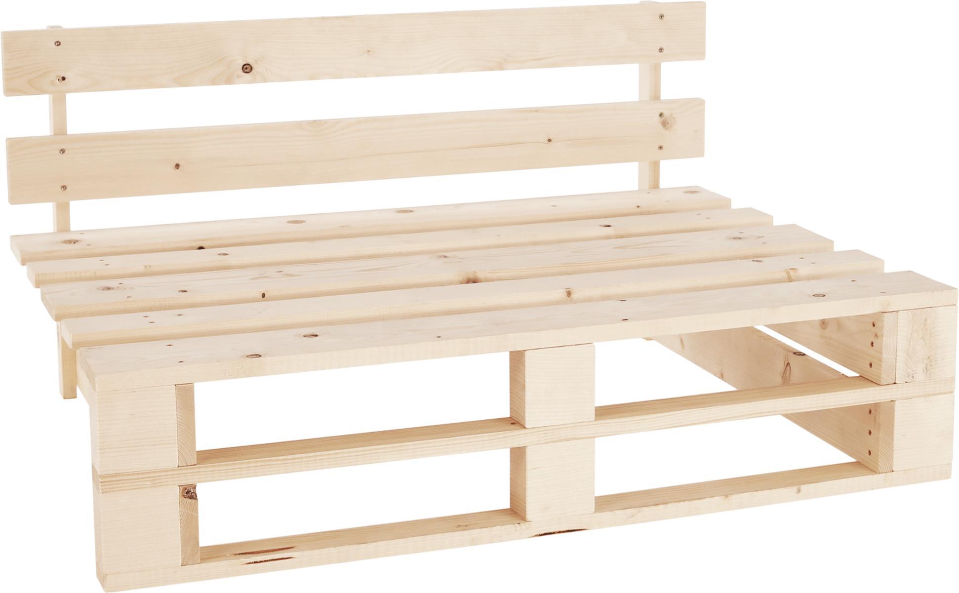 Záhradná drevená lavica z paliet, smrek prírodný, 110x80x55cm, URAL
