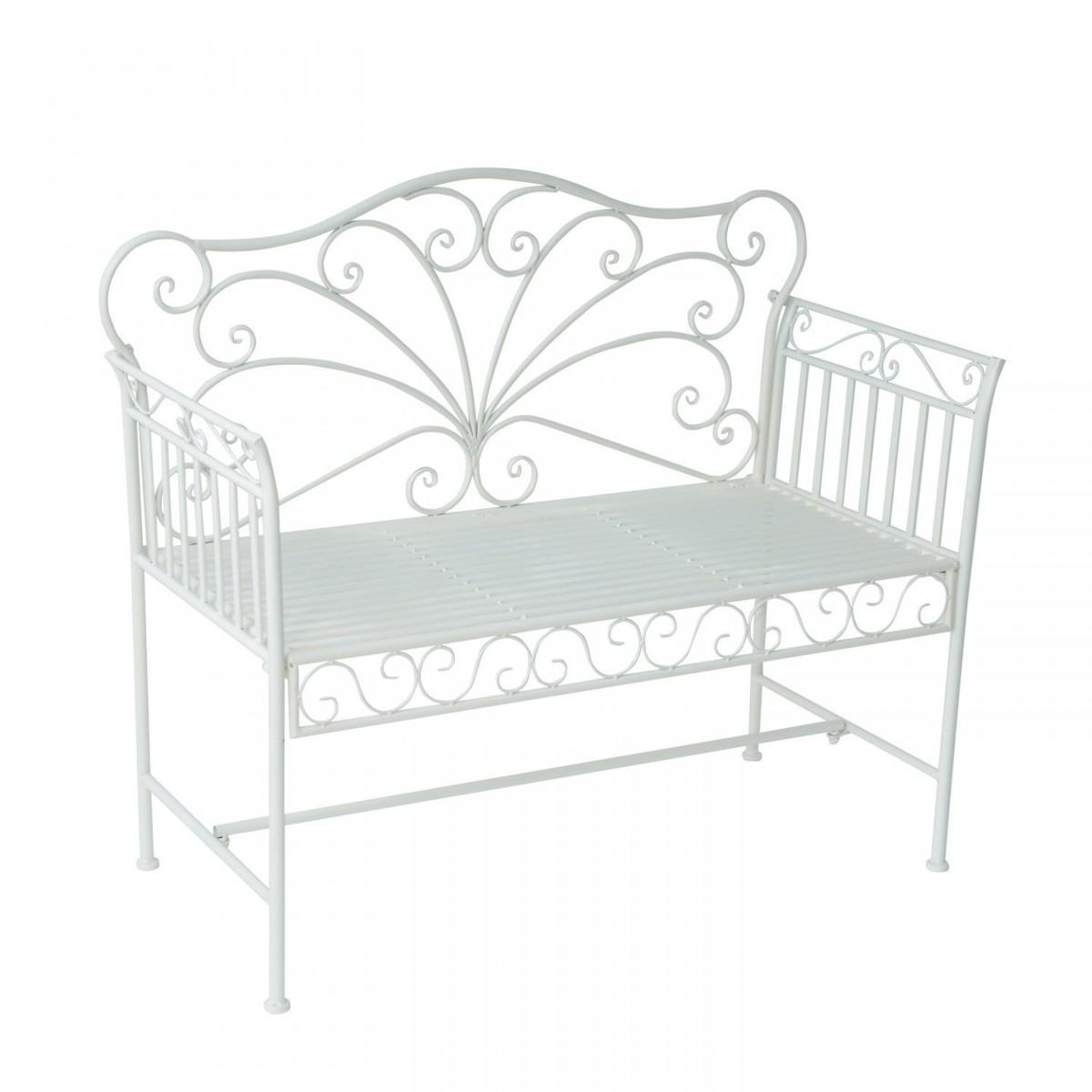 Záhradná lavička - biela II