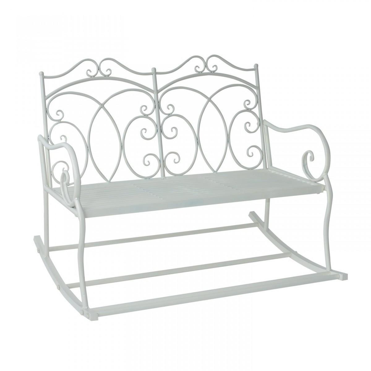 Záhradná lavička - biela