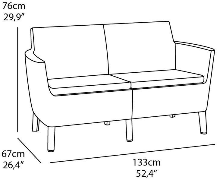 Záhradná lavička HAGEN 2 - hnedá