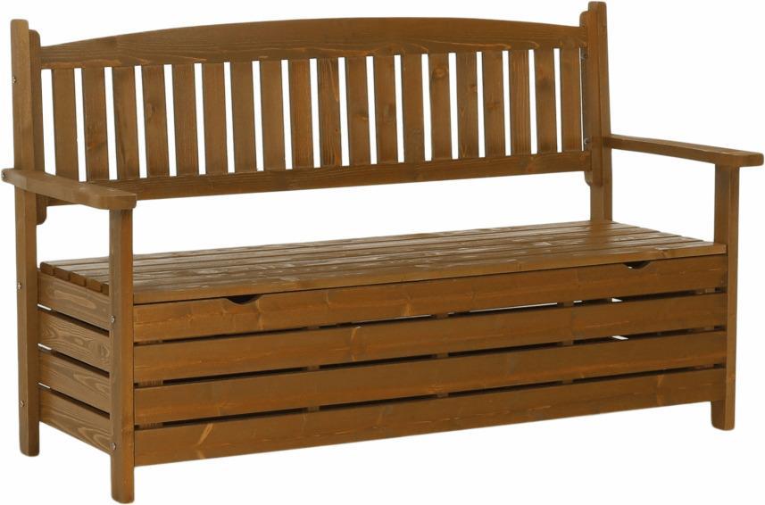 Záhradná lavička, hnedá, 150cm, AMULA
