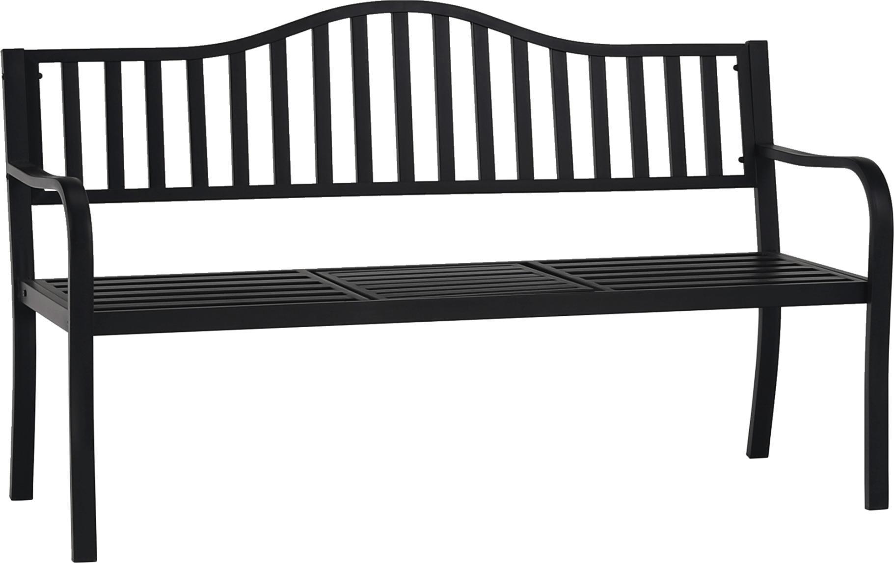 Záhradná lavička so stolíkom, čierna, DAGNO