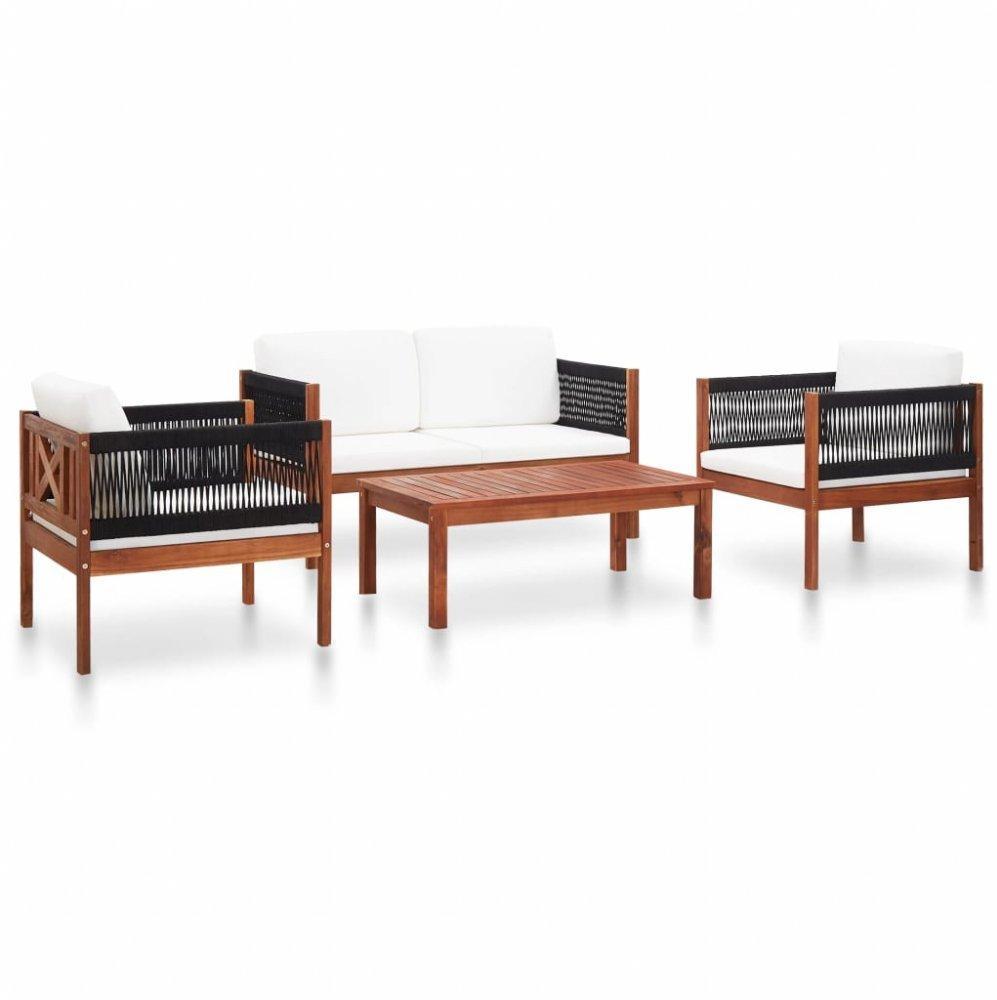 Záhradná sedacia súprava 4dielna akáciové drevo