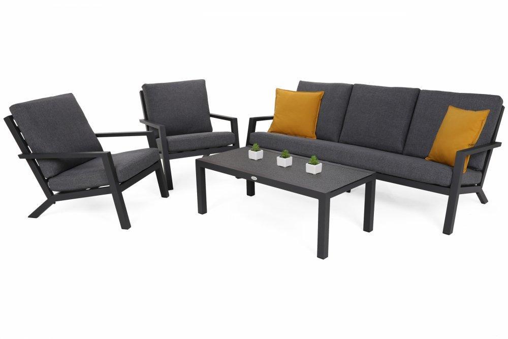 Záhradná sedacia súprava 5+1 GH0889 antracit / sivá
