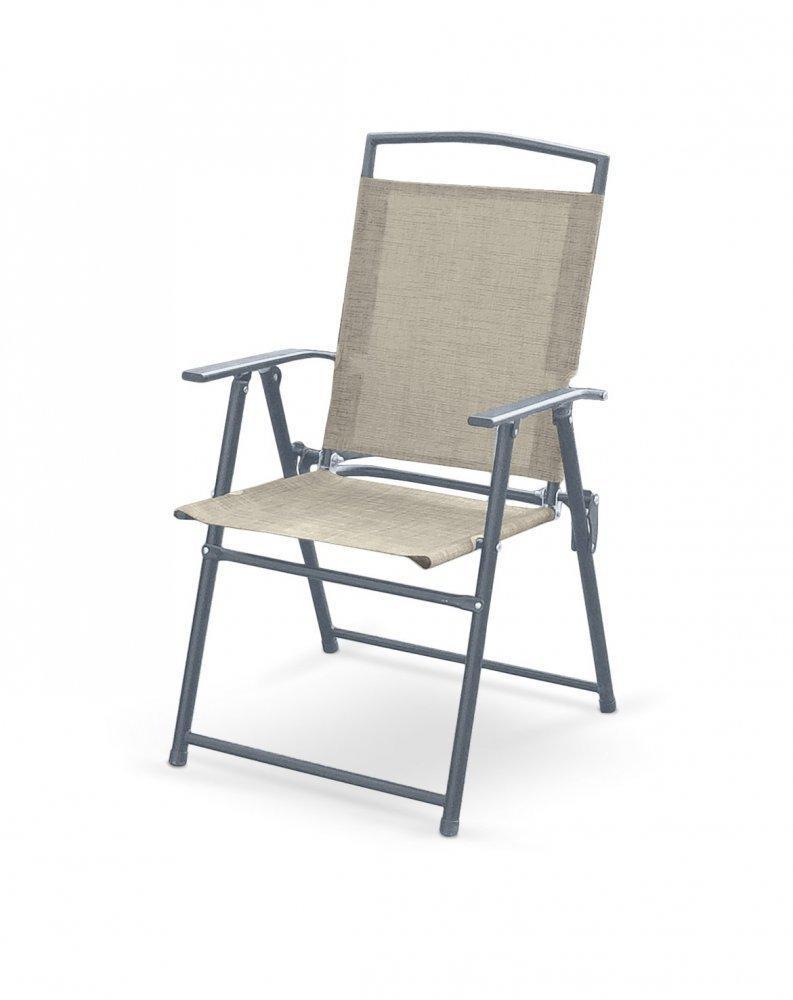 Záhradná skladacia stolička ROCKY sivá Halmar