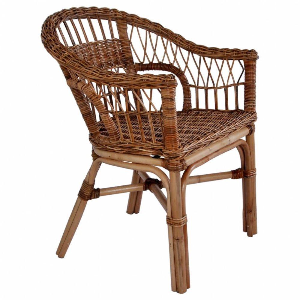 Záhradná stolička hnedý ratan Dekorhome