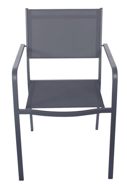 Zahradná stolička Tobago, šedá