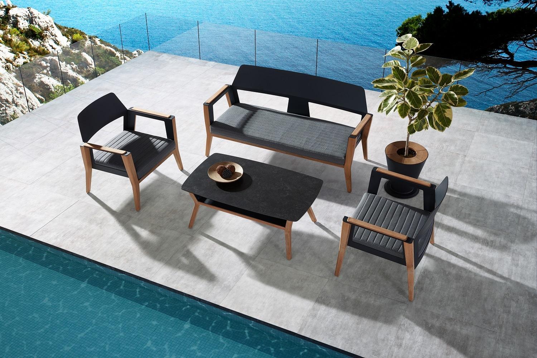 Záhradná zostava HIGOLD - Sheldon Lounge Black Olefin
