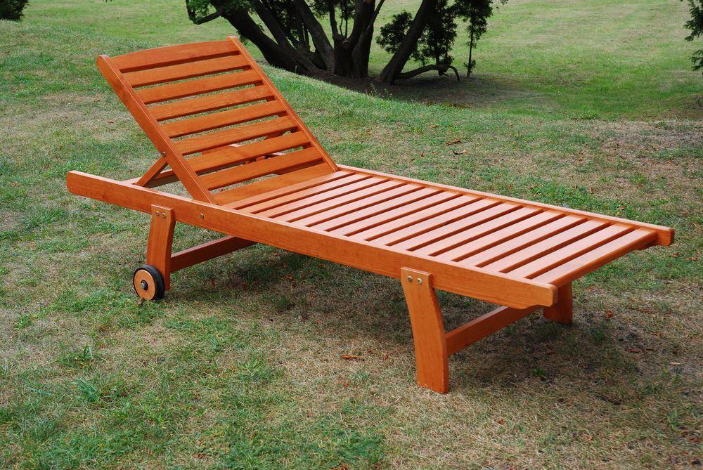 Záhradné drevené ležadlo LUISA