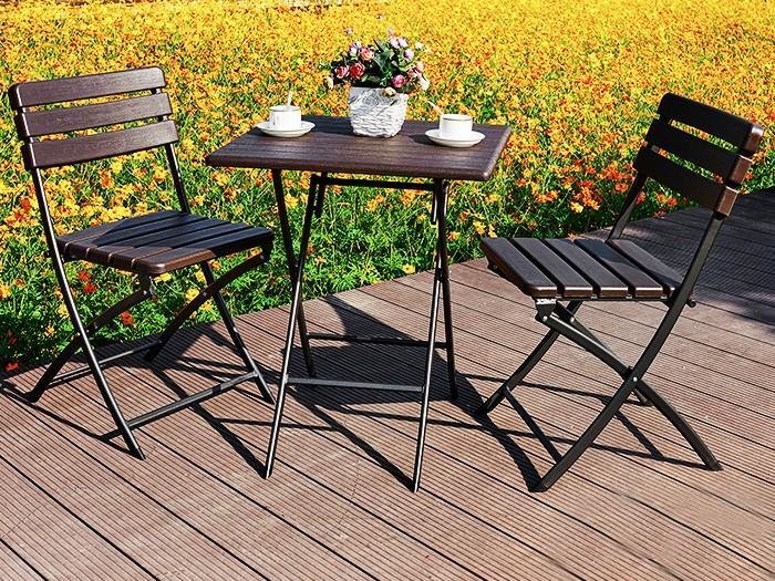 Zahradní konferenční stolek 62 cm hnědý