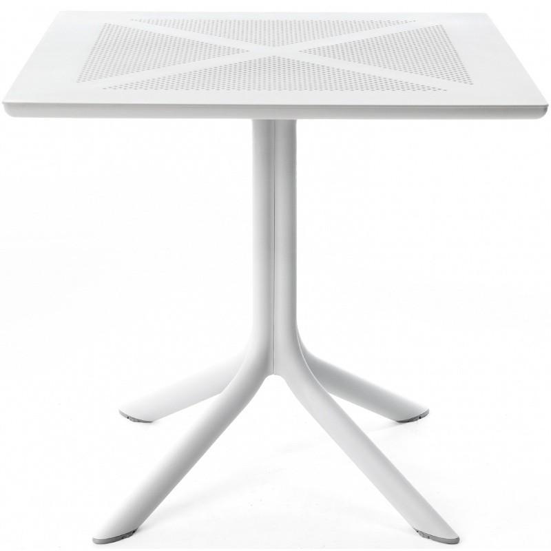Zahradní stůl Nardi Clipx 80 bílý