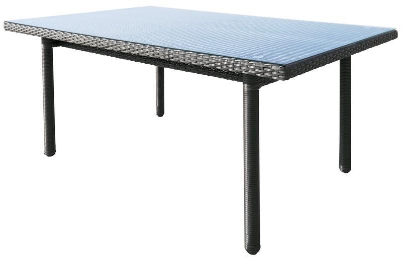 Záhradný jedálenský stôl Java 160x100 cm, antracitový