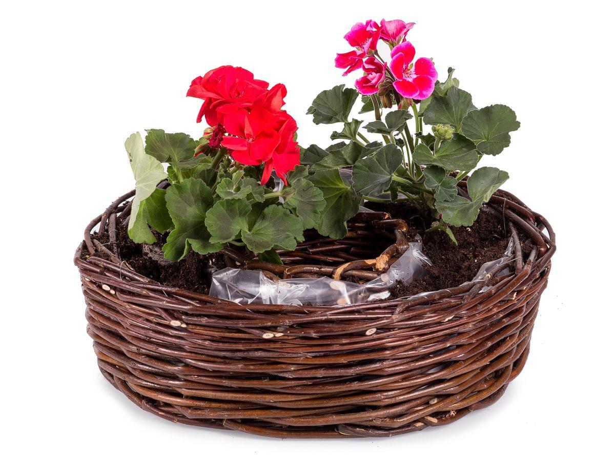 Záhradný kôš prútený aranžovací Rozmaring II.
