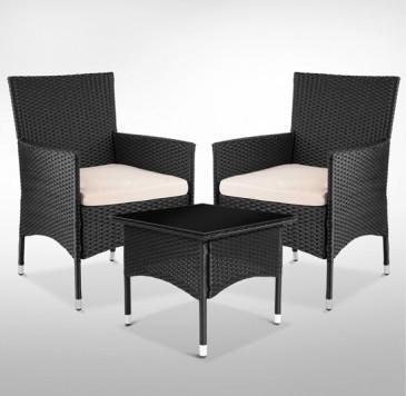 Záhradný ratanový nábytok KARL - varianta čierna