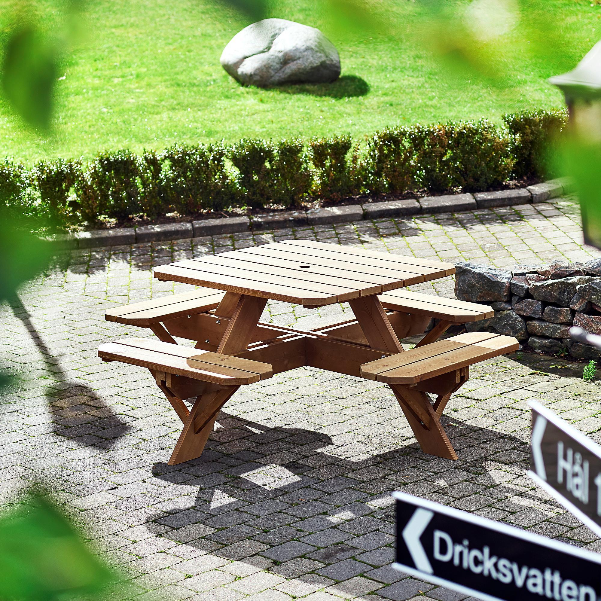 Záhradný stôl Time-out, hnedý