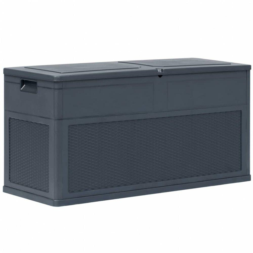 Záhradný úložný box 320 l Dekorhome Antracit