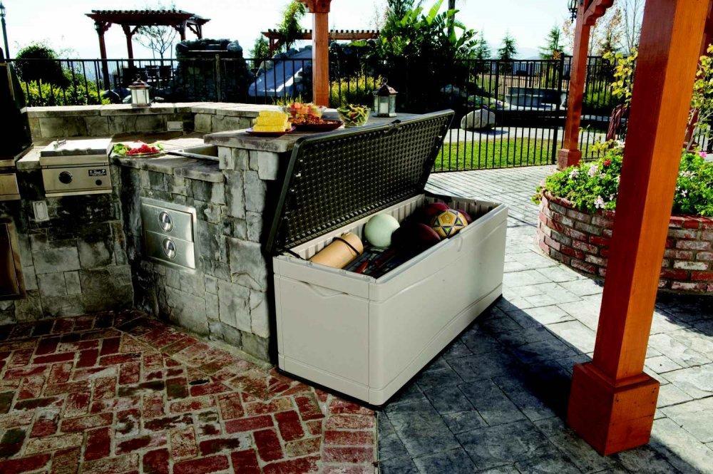 Záhradný úložný box 495l plastový Dekorhome