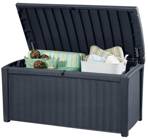 Záhradný úložný box COLBORNE antracit - 416L