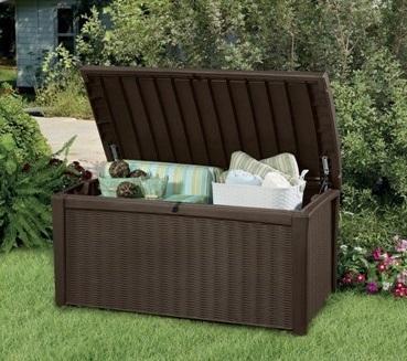 Záhradný úložný box COLBORNE hnedý - 416L