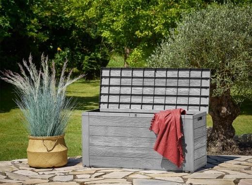 Záhradný úložný box D8981 sivá Dekorhome