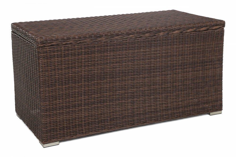 Záhradný úložný box polyratan 1037L Hnedá