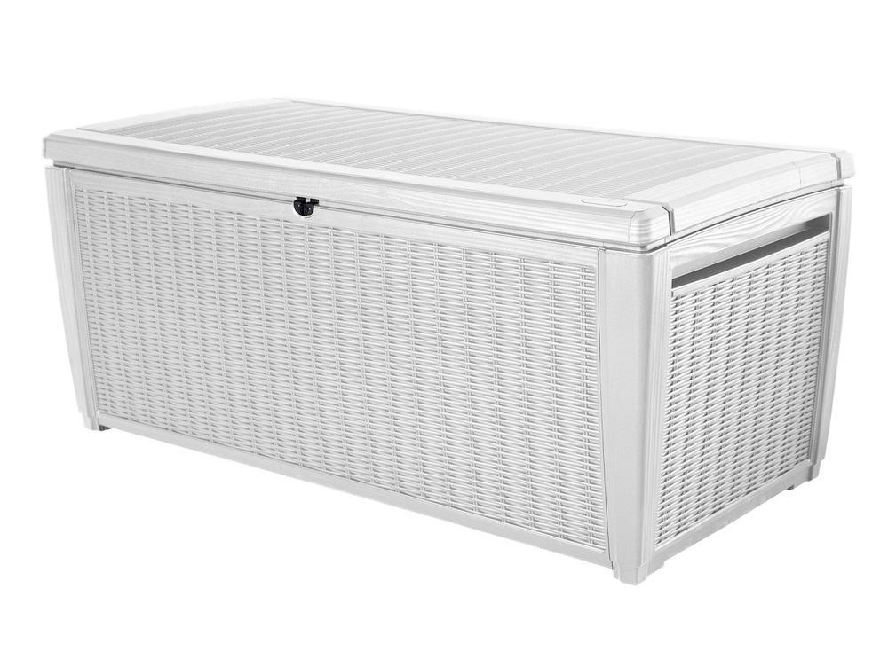 Záhradný úložný box WATERLOO 511L biely