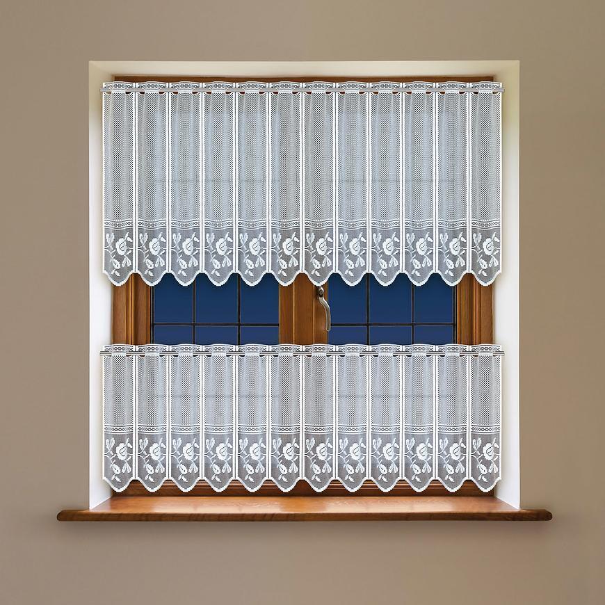 Žakarová záclona 341980 biela/50. Tovar na mieru